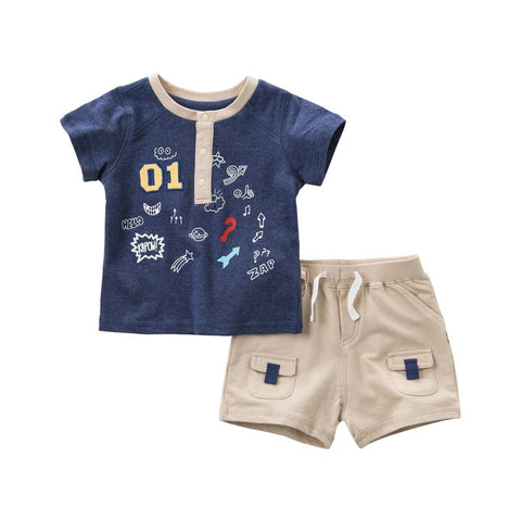 7b4d9d62b2696 DBA9504 dave bella summer baby boys fashion clothing sets casual short  sleeve suits children ocean print