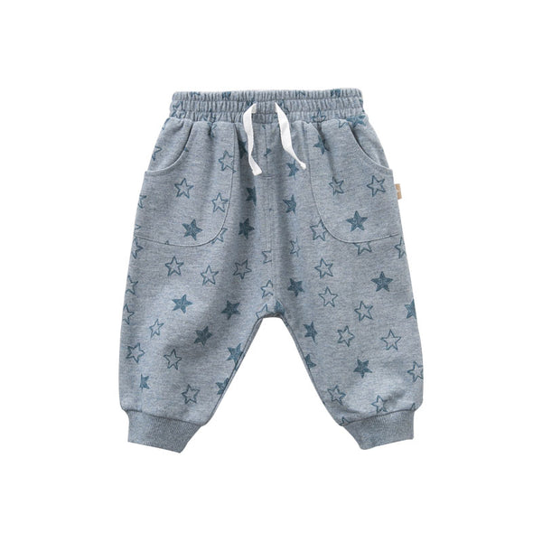 DBA9515 dave bella spring baby boys fashion cross-pants children full length kids pants infant toddler trousers - thefashionique