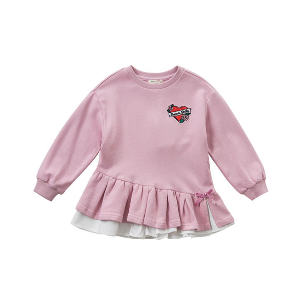 DBK9103 dave bella baby girls spring infant baby fashion t-shirt toddler top 5-13Y children high quality tees lovely clothes - thefashionique