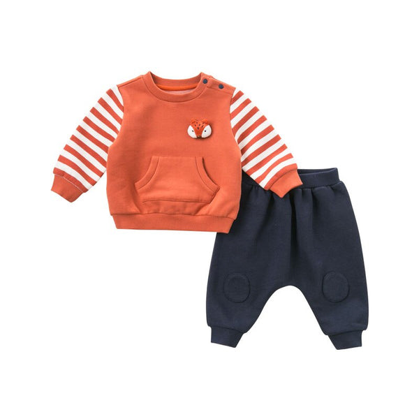 DBM8910 dave bella autumn baby boys long sleeve clothing sets infant toddler top+pants 2 pcs outfits children high quality suits - thefashionique