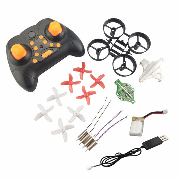 DIY Min Drone RC Remote Control Helicopter One Key Return Headless Quadcopter Propeller Motor Battery Receiver Board Accessories - thefashionique