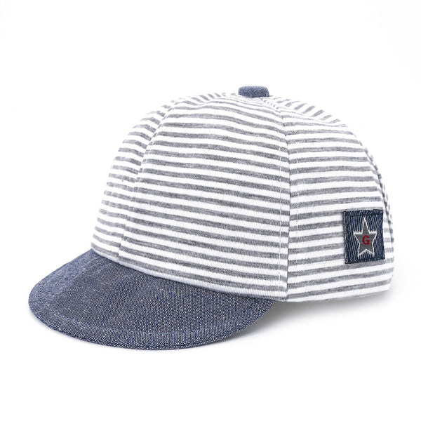DMROLES 2018 Fashion Baby Hats For Boys Girls Baseball Cap Children Snapback Cap Boys Mesh hat Cotton Striped Summer Cap - thefashionique