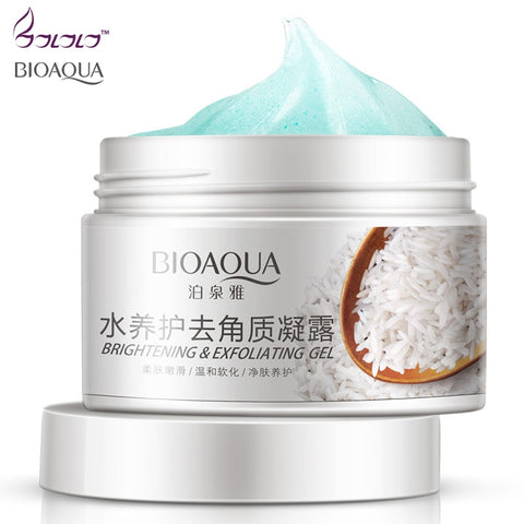 Deep cleansing Aqua Gel Moisturizes Face Treatment  BRIGHTENING Exfoliating Facial Scrub ,Smoothen,  Beauty Facial Skin Care - thefashionique