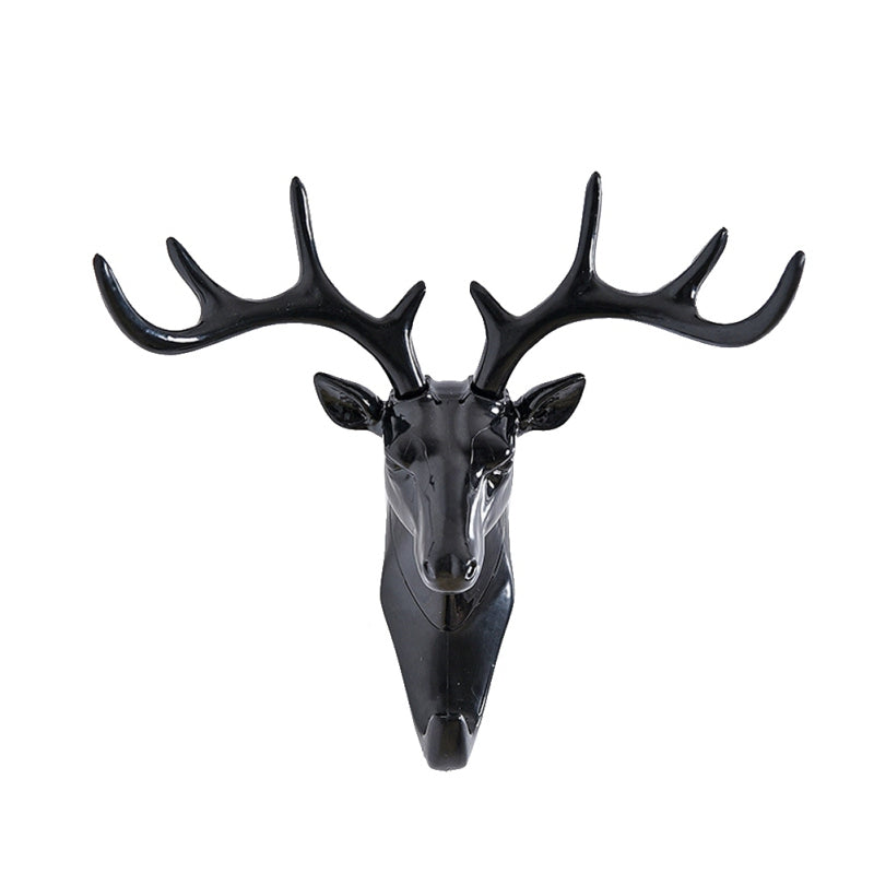 Deer Head Elephant Animal Self Adhesive Clothing Display Racks Hook Coat Hanger Cap Room Decor Show Wall Bag Keys Sticky Holder - thefashionique