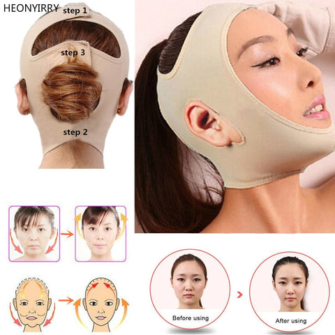 Delicate Facial Thin Face Mask Slimming Bandage Skin Care Belt Shape And Lift Reduce Double Chin Face Mask Face Thining Band - thefashionique