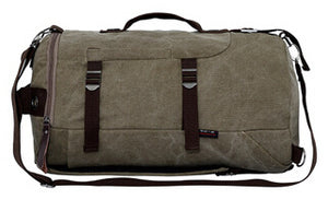 Design canvas dual function bag men travel bags designer women travel duffle rucksack men bookbag canvas daypack weekend tote - thefashionique