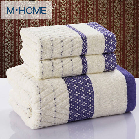 Diamond Plaid 3pcs towel 100% Cotton bath beach face towel sets for adults 33cm*75cm*2p 70cm*140cm*1p Satin Dobby bathroom towel