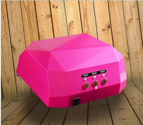 Diamond Shape 36W UV LED Lamp Nail Dryer Timer Manicure Lamp Gel Polish Quick Dry Machine Nail Art Tools / by DHL 20pcs - thefashionique