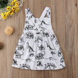 Dinosaur Print Newborn Kids Baby Girls Cotton Sleeveless Dress Sundress Baby Girls Summer Clothes - thefashionique