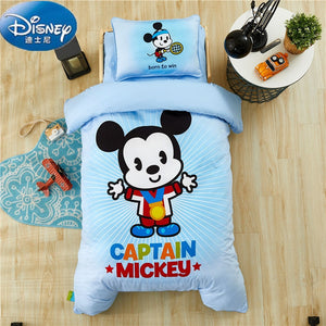 Disney Quilt Bedding Set Crib Sheets 6pcs set of Quilt Include Comforter Pillow Mattress Quilt Cover Sheets Pillowcase 0.6m Bed