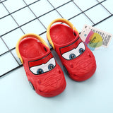 Disney Shoes Car McQueen Boy Slippers 2-5 years old Non-slip Sandals Children Hole Shoes Children's Beach For Kids shoes 14-19cm - thefashionique