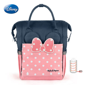 Disney Thermal Insulation Bag USB Oxford Cloth Diaper Storage Backpack Baby Care Diaper Bags High-capacity Feeding Bottle Bags - thefashionique