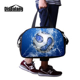 Dispalang Overnight Duffle for Unisex Large Capacity Foldable Clothes Bag Sling Shoulder Multi Functional Luggage Footballl Logo - thefashionique
