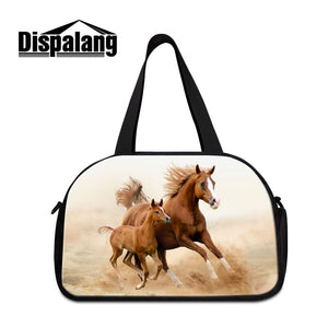 Dispalang Pretty Horse Travel Duffel Multi Function Traveling Tote Bag for Men Professional Gymbag for Guy Latest Animal Sportl - thefashionique