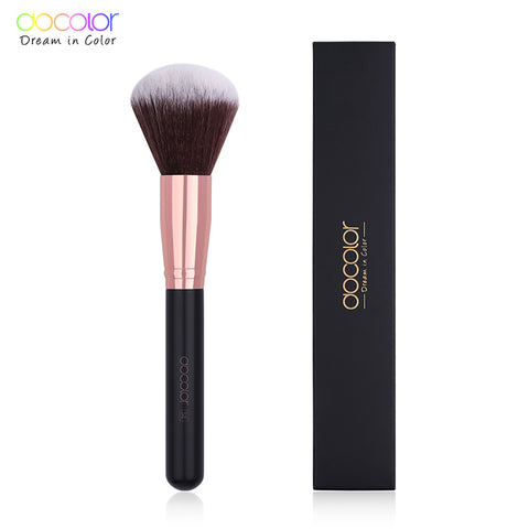 Docolor 1PC Large Powder Brush Classic Makeup Brush Beauty Essential Cosmetic Brush Soft Synthetic Hair Make up Tools