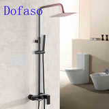 Dofaso vintage black shower faucets set Matt Black Bathroom faucet Bath Shower Set Brass Smart Shower Faucet - thefashionique