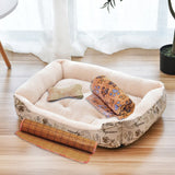 Dog nest cat nest autumn and winter pet nest dog cushion small, medium and large dog bed pet supplies