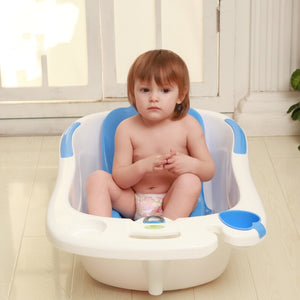 Dolphin Water Scoop Baby Bathtub Environmental Comfort Baby Bath Tub With Lying Plate Bath Rack Plus Size