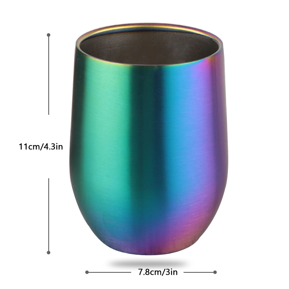 Double Insulated Stainless Steel 304 Color Thermos Cup, Red Wine Glass, Beer Glass, Vacuum Eggshell Cup. - thefashionique
