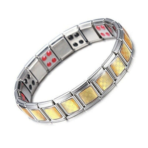 Double Strength Mens Magnetic Therapy Bracelet Arthritis Pain Relief Healthy Magnet Care for Man Jewelry Gifts