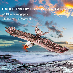 E19 Eagle V2 1430mm Wingspan EPP DIY RC Airplane Fixed-Wing KIT/PNP Slow Flyer Trainer for Beginners VS ESKY Eagles XK DHC2 P51D