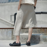 [EAM] 2019 New Spring Summer High Waist Black Personality Irregular Kollow Out Linen Pants Women Trousers Fashion Tide JT542 - thefashionique