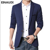 EINAUDI Fashion Men Blazer Casual Suits Slim Fit suit jacket Men Sping Costume Homme,Terno Masculin Blazer jacket - thefashionique