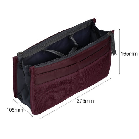 ELECOOL New 1 Pcs Multifunctional Make Up Organizer Bags Women Cosmetic Toilet Bag Ladies Wine Red Cosmetic Accessories
