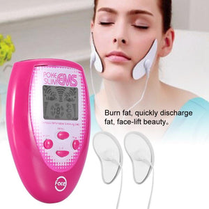 EMSFace Massager  Electric Slimming Facial Massage Electronic Muscle Stimulation + 2pcs Electrode Face Sticker + 2 Cheek Sticker - thefashionique