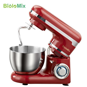 Electric Food Mixer 4L Appliance Stainless Steel Bowl  Whisk Mixer 1200W 6-speed Household Kitchen Dough Cream Blender