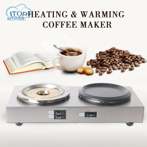 Electric stove Double Head Different Functions Cooker Small Coffee Heater Mocha Heating Hot Plates Coffee Milk Machine 220V/50Hz - thefashionique