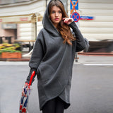 European Station 2018 Autumn And Winter Loose Hooded Jacket Shirt Sweater Women - thefashionique