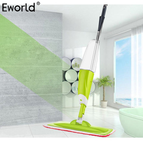 Eworld 1PCS 700ML Creative House Cleaning Spray Mop Lazy Dry And Wet Apply Flat Mop Household Solid Wood Floor Cleaning Tools