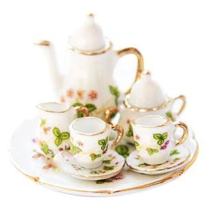 FBIL-1/6 Dollhouse Miniature Porcelain Coffee Tea cup set #C