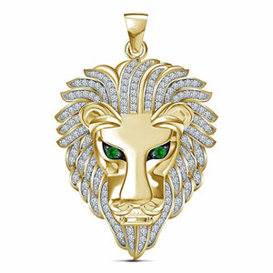 FDLK  2020 Trendy Hip Hop Rock Punk Lion Head Shape Pendant Necklaces All Crystal Luxury Gold Domineering Necklace for Men Women