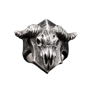 FDLK    Europe and America Hot Zinc Alloy Sheep Skull Ring Men's Personality Punk Ring