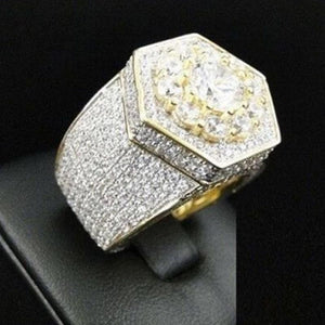 FDLK   Luxury Crystal Rhinestones Wedding Engagement Band Ring Women Men Jewelry Gift