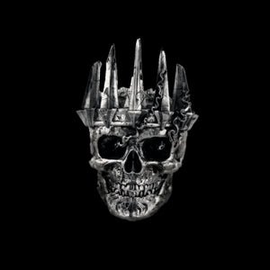 FDLK   Mens Classic Nobility Silver Color King Crown Skull Biker Rings Punk Fashion Jewelry Gift for Men