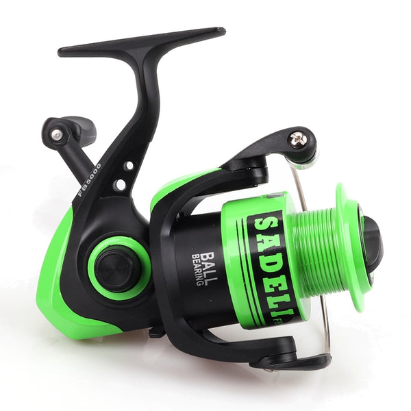 FG1000 2000 3000 4000 5000 6000 7000 8000 Series 5.5:1Ball Bearing Spinning Fishing Reel Saltwater Fishing Folding Handle - thefashionique