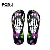FORUDESIGNS Cool Skull Printed Flip Flops Men's Slippers Korean Style Sandals For Teenage Punk Beach Flats Shoes Dropshipping - thefashionique