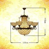 FUMAT Chandeliers Stained Glass Lights Fixtures Pendant Lamp For Bedroom Rose Flower Lights 6 Heads E27 LED Bedroom Chandelier