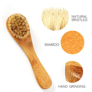 Face Cleansing Brush Bamboo Facial Cleansing Massage Care Brush Facial Cleanser Mini Beauty Skin Care Brush Drop Ship - thefashionique