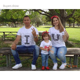 Family Clothing Fashion Parent-child Summer Love Family Mother Daughter Family Matching Outfits Short Sleeve Cotton T-shirt - thefashionique