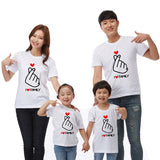 Family Clothing Letter I LOVE Family Matching Clothes Matching Outfits Clothes 2018 Summer T Shirts Daddy Mother Son Outfits - thefashionique