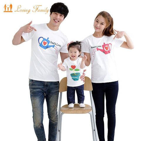 ed0e2ee3a30a Family Fashion cultivate Love Summer Short-sleeve T-shirt Matching Family  Clothing Outfits For