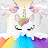 Fancy Baby Girl Dress Unicorn Outfits 1 Year Girl Baby Birthday Dress Flower Embroidery Colorful Dresses Rainbow Clothing Gift - thefashionique