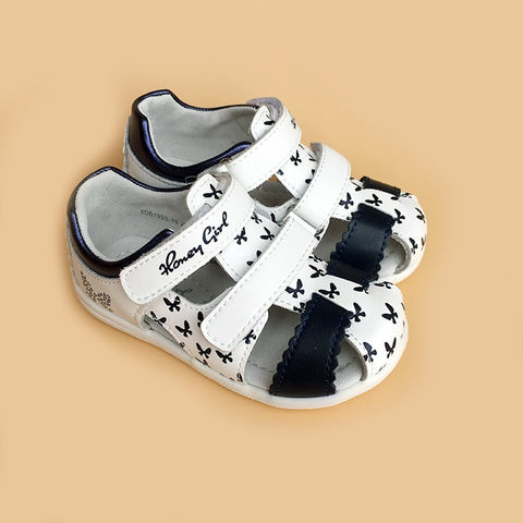 Fashion 1pair Girl Genuine Leather Orthopedic Shoes , Super quality Summer Children Kid Shoes