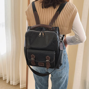 Fashion Backpack Pu Women School Backapck New School Bags Female Backpack Rucksack Large Capacity Backbag Mochilas