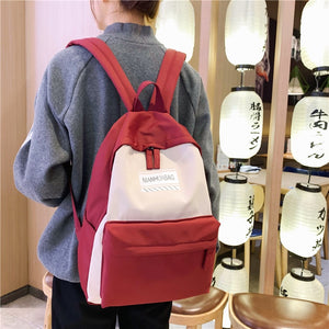 Fashion Backpack Waterproof 15.6 Inch Laptop Women School Backpack Solid Color School Bag For Teenage Girls Travel Shoulder Bag