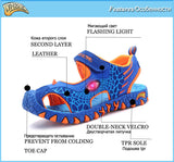Fashion Cartoon Luminous Sneakers For Boys Children Glowing Sandals Beach Shoes Kids Led Sandals Sneakers 3D Dinosaur Sandals - thefashionique